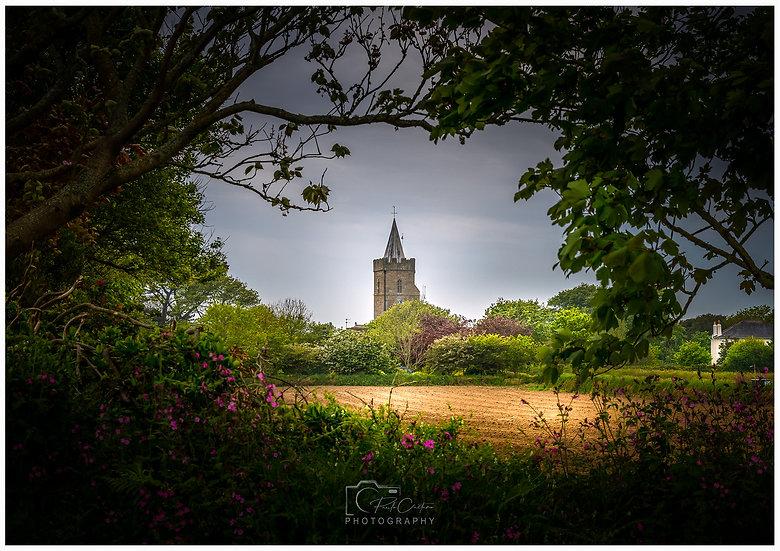 (Photo Framed) St. Saviour's Church & Field Frame | Guernsey (PCP0809)