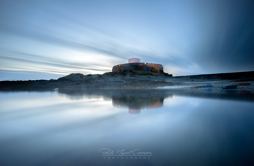 (Photo Framed) Fort Grey at Dusk - Guernsey (PMC4831)