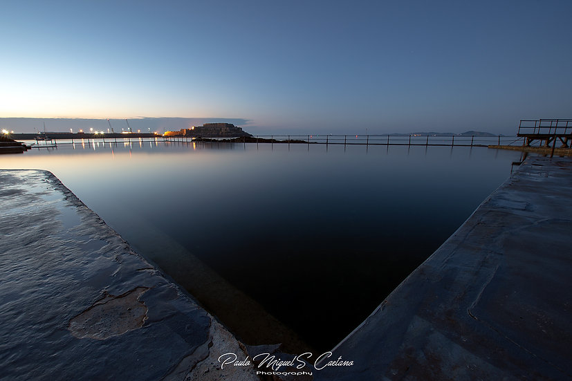 (Photo Framed) Blue Bermuda Triangle at St. Peter Port Bathing Pools (PMC4546)