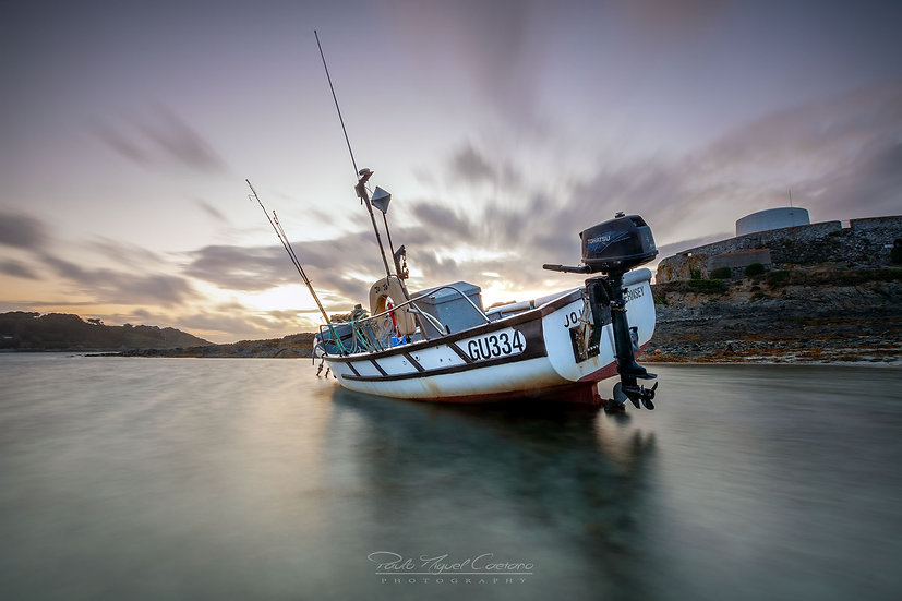 (Canvas) Jo Jo Fishing Boat - Fort Grey - Guernsey (PCO1514.2)