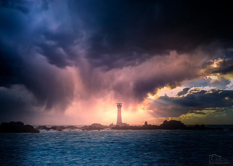 (Rolled) Storm Invasion of Le Hanois Lighthouse (PCP8791)