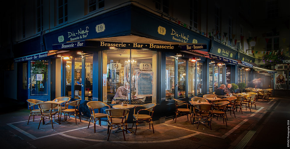 (Rolled) Dix Neuf Restaurant - Guernsey (PMC5469)