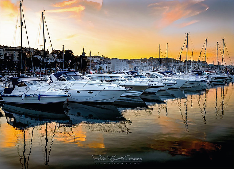 (P. Framed) The Luxury Golden Sunset of Saint Peter Port, Guernsey (PCO0754)