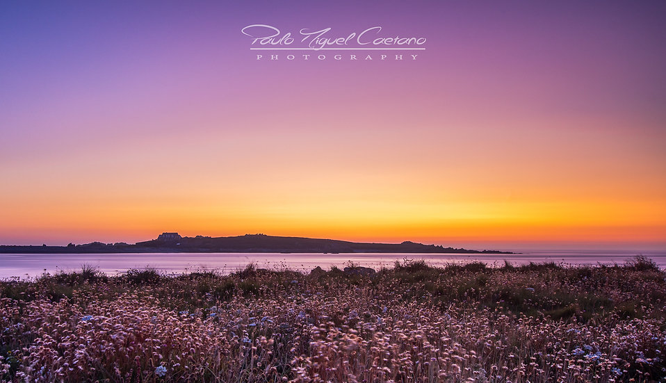 (Photo Framed) Lihou Island at Sunset - Guernsey (PMC4690)