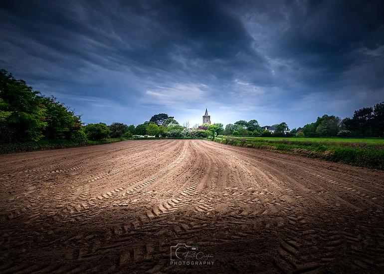 (Canvas) St. Saviour's Field & Church | Guernsey (PCP0818)