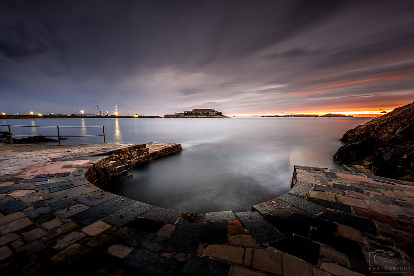 (Canvas) Horseshoe Pool at Dawn, St Peter Port, Guernsey (PCP8870)