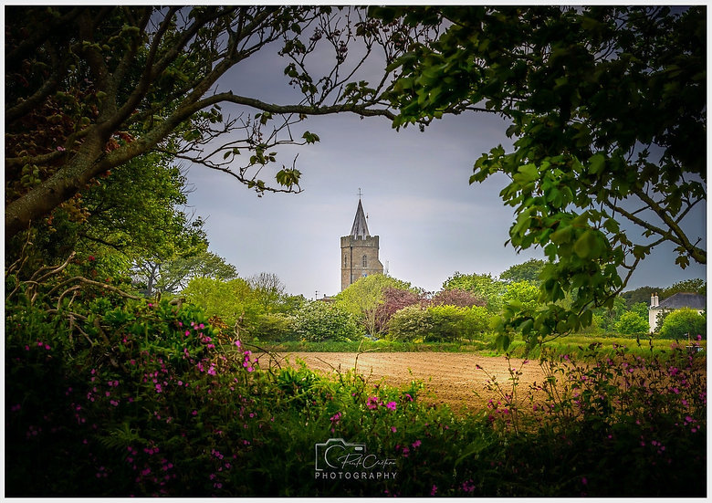 (Rolled) St. Saviour's Church & Field Frame | Guernsey (PCP0809)