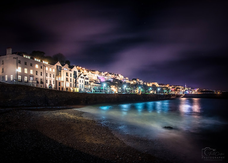 (Rolled) Seafront Buildings by Havelet Bay (PCP9437)