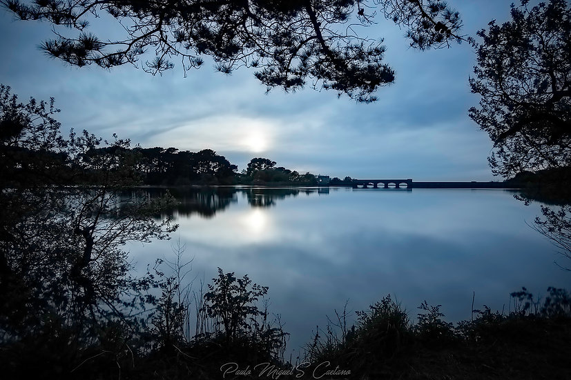 (Photo Framed) Blue Hour at The Reservoir - Saint Saviours - Guernsey (PMC1688)