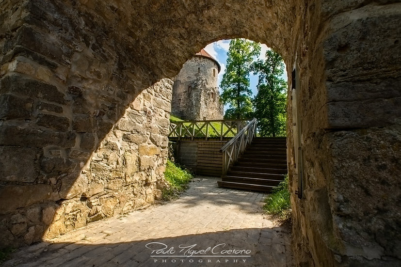 View of Cesis Castle Under a Bridge - Cesis - Latvia (PMC1777)