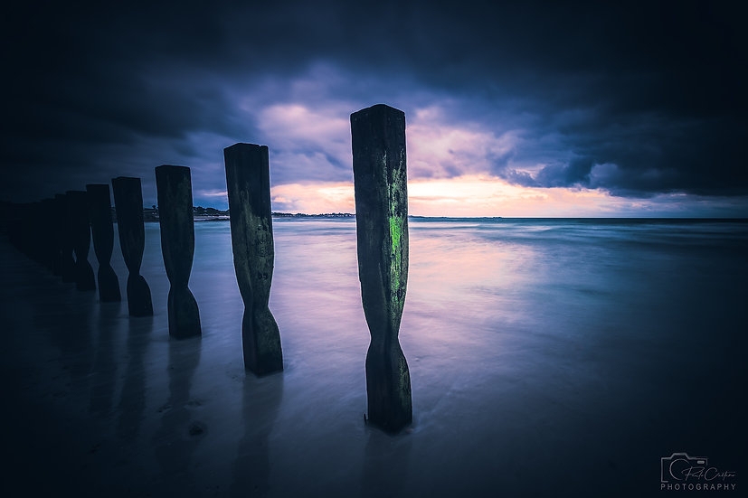 (Photo Framed) Vazon Groynes Standing Tall  (PCP1978)