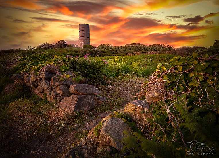 (Canvas) A Fort Saumarez Sunset - Guernsey (PCP1400)