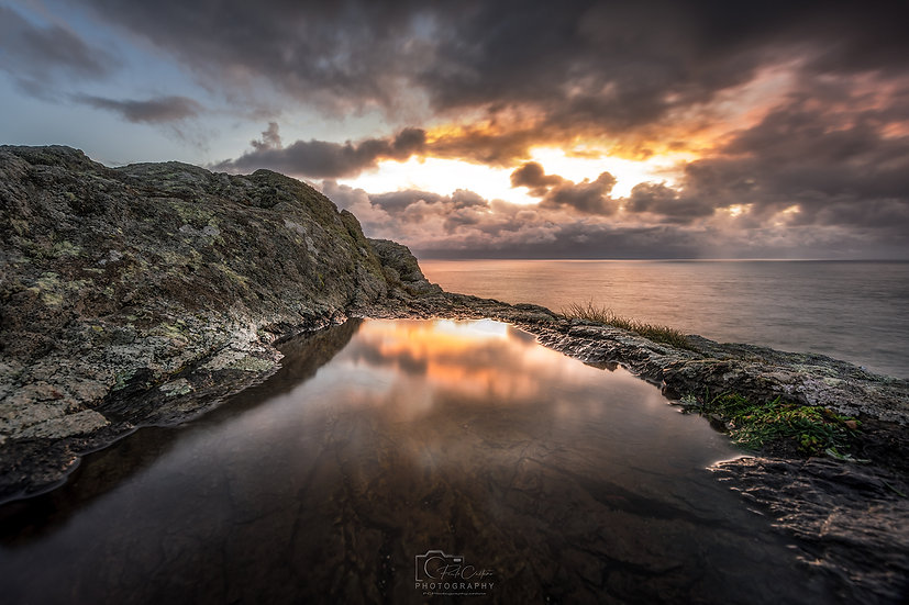South Coast Sunset Puddle Reflections (PCP8997)