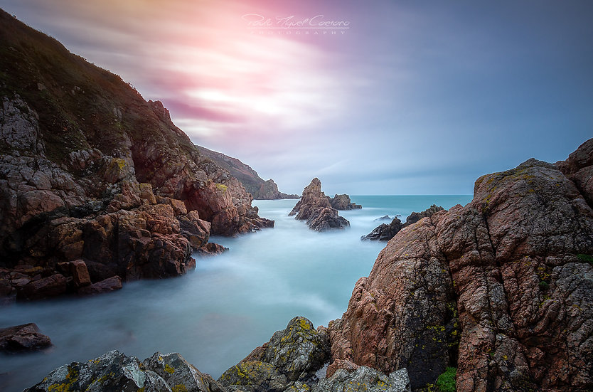 (Canvas) A Jaonnet Bay Winter Sunrise - Guernsey (PCO3769)