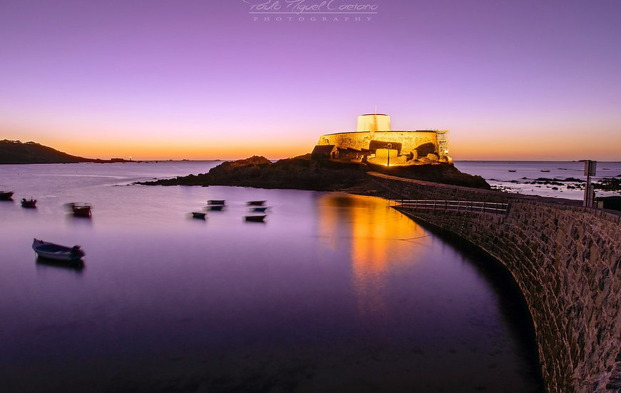 (Canvas) Purple Dusk Over Fort Grey - Guernsey (PMO2110)