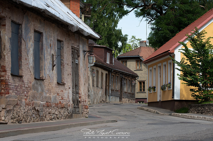 (Canvas) Cesis Town Roads & Houses - Latvia (PMC1866)