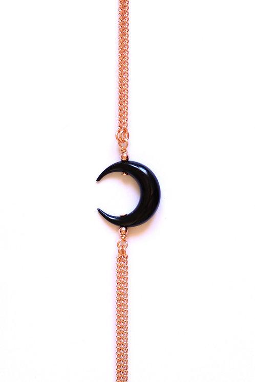 Bracelet MOON Or rose x Black