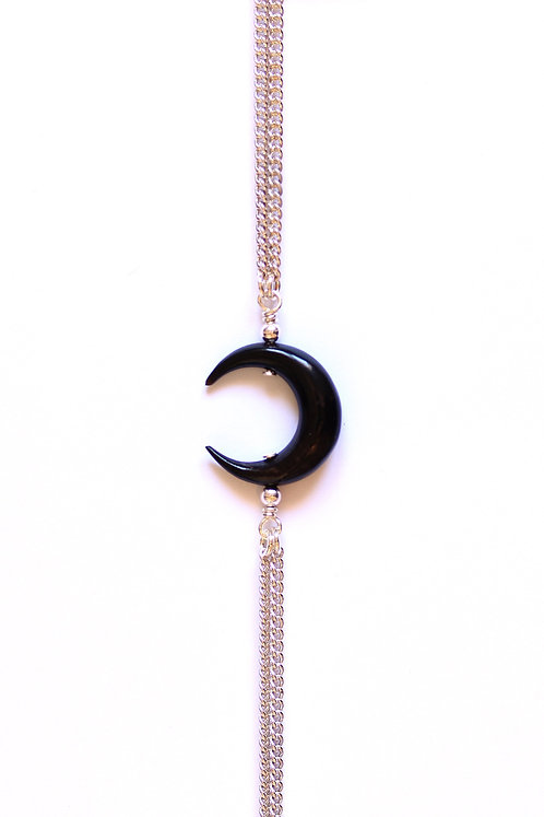 Bracelet MOON Argent x Black