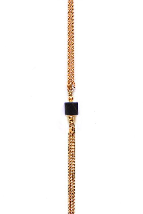 Bracelet CUBE Or x Black