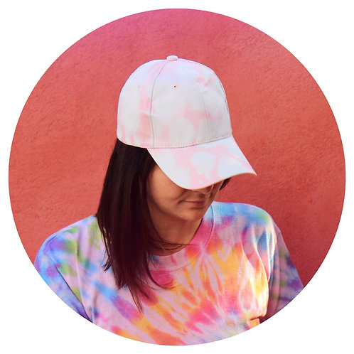 Casquette Tie & Dye Baby Pink