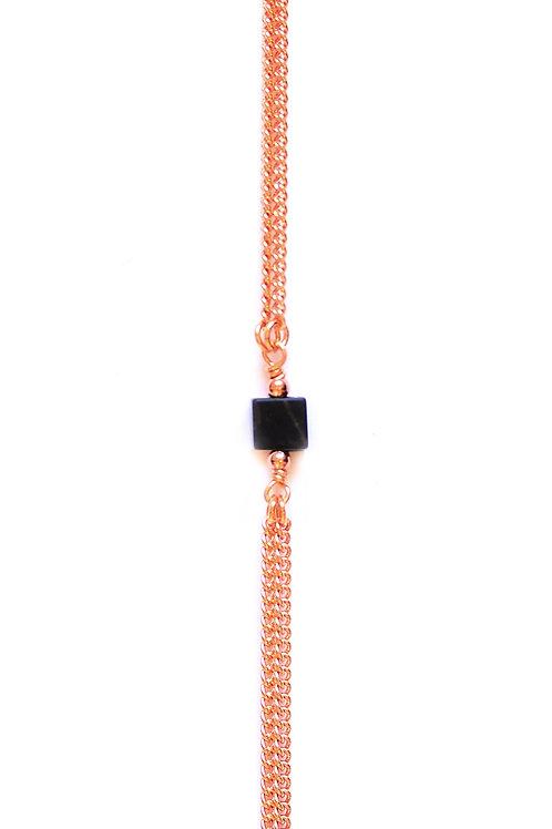 Bracelet CUBE Or rose x Black