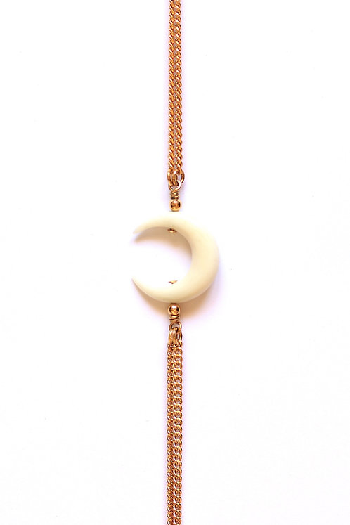 Bracelet MOON Or x White