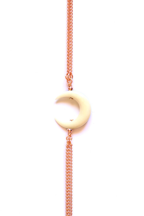Bracelet MOON Or rose x White