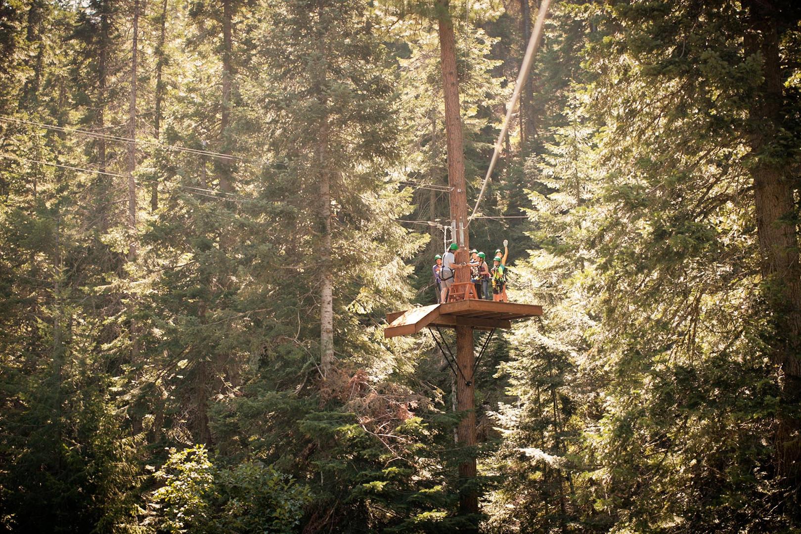 High Zipline Platform