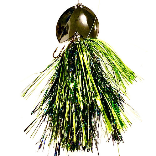 Musky Bucktail Custom Green Lantern Lil Weedwacker