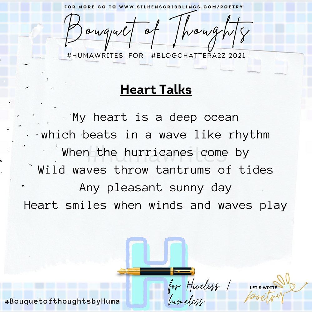 Poem by Huma Masood from Bouquet of Thoughts collection