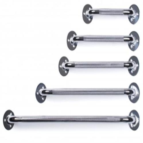 "Lumex chrome knurled grip grab bars (12""- 32"" available)"