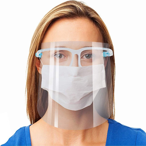 Anti-Fog Face Shield with Glasses