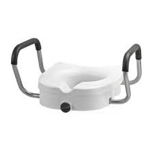 """Locking Elevated Toilet Seat with Arms 5"""""""