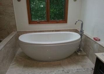 stand alone deep tub, Plumb It Inc., Aurora, IL