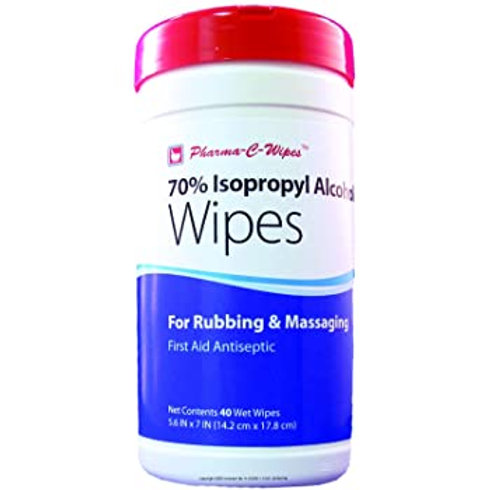 Pharma C-Wipes 70% isopropyl alcohol wipes