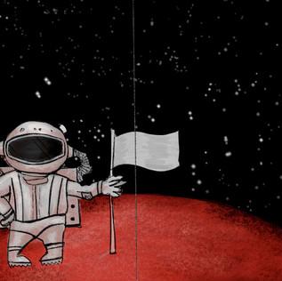 Astronaut' sketch in color