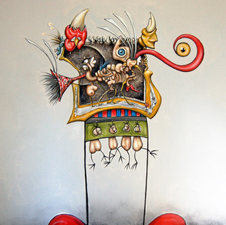 Mural Self protrait acrylic on wall-240_