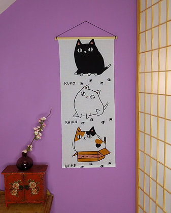 TENUGUI WALL HANGING - TRIO