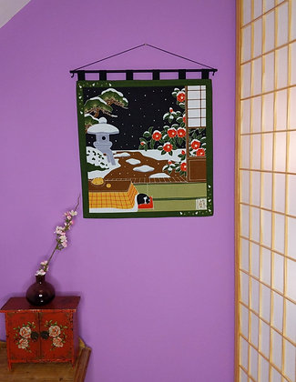 FUROSHIKI WALL HANGING - WINTER SNOW