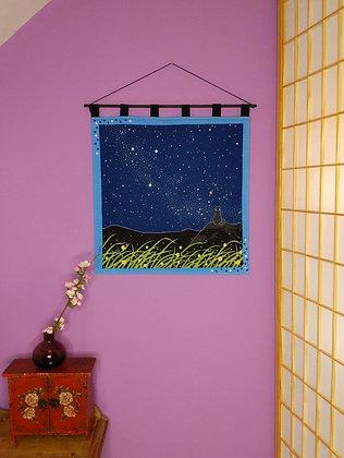 FUROSHIKI WALL HANGING - NIGHT SKY (GLOW IN THE DARK)