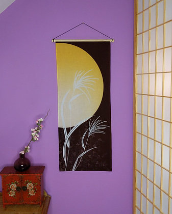 TENUGUI WALL HANGING - AUTUMN MOON
