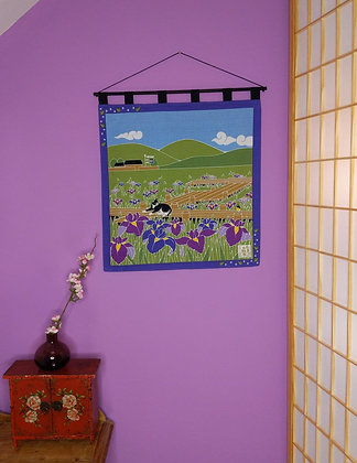 FUROSHIKI WALL HANGING - IRIS