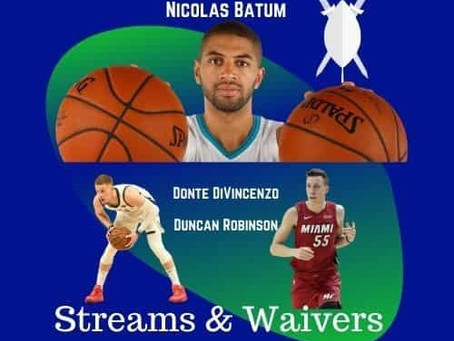 Fantasy Basketball Week 6 Streamers & Waiver Wire Pickups