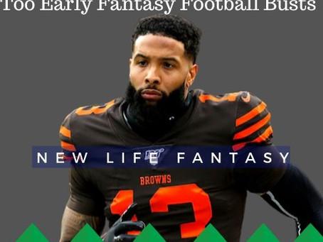 Fantasy Football Dynasty: Early Potential Draft Busts