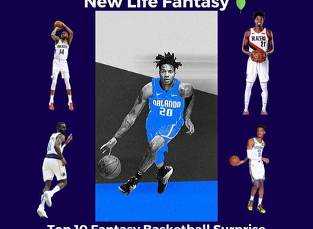 2020 Top 10 Fantasy Basketball Surprise Players