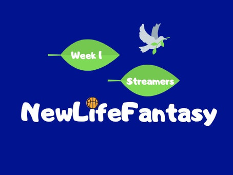 Fantasy Basketball Points Week 1 Streamers