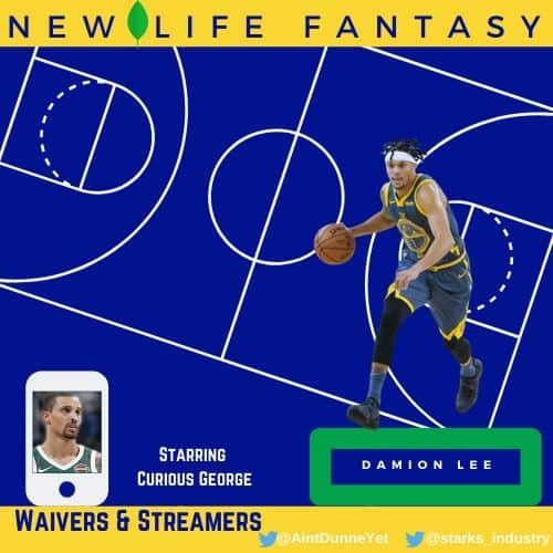 Fantasy Basketball Points Week 10 Waiver Wire and Stream Options