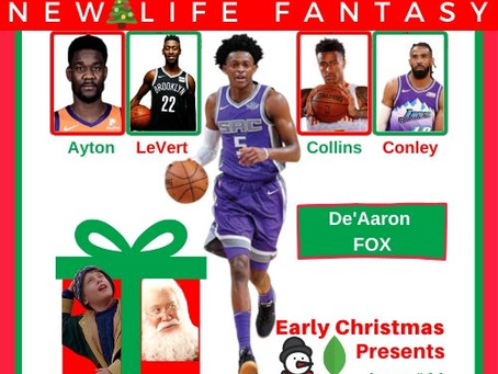 Early Christmas Presents: Fantasy Players Wish List