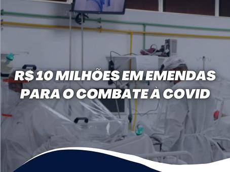 R$10 milhões em emendas para o combate à COVID
