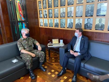David Soares visita Comando Militar do Leste